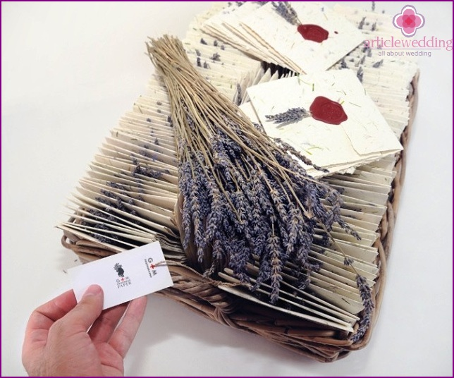 Provence style invitations