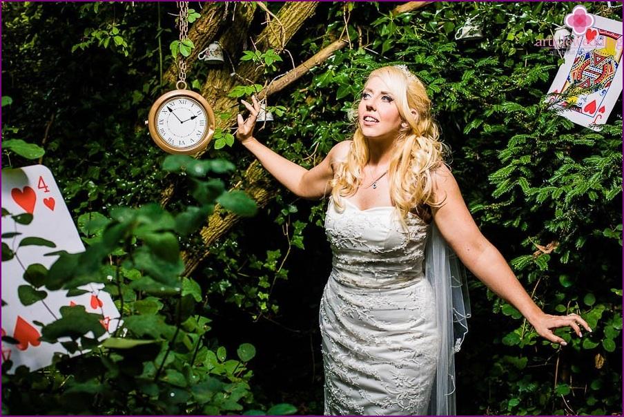 Wonderland style bride