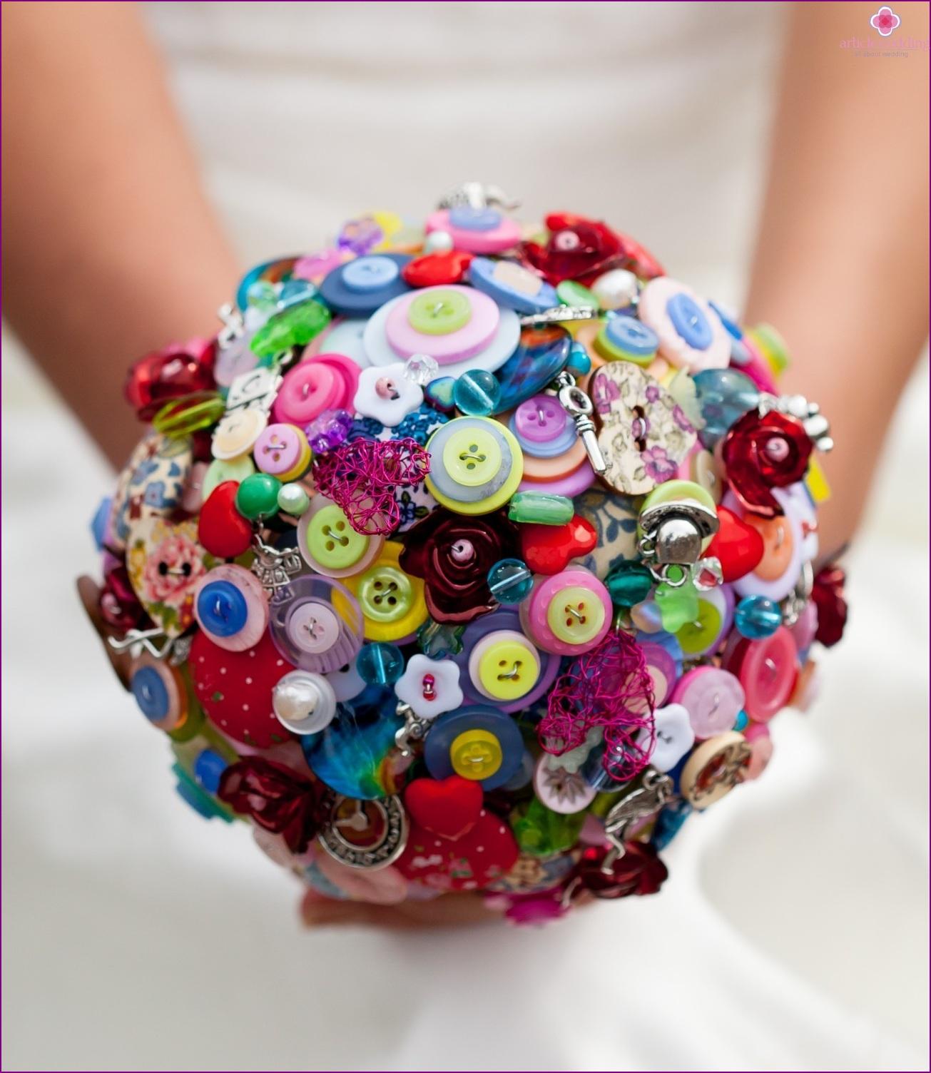 Bridal bouquet in Wonderland style
