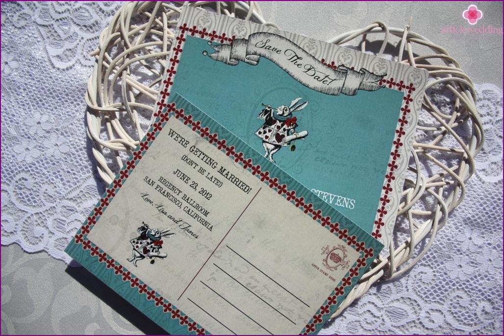 Wonderland style invitation