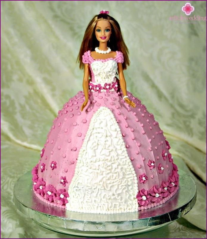 Barbie style cake