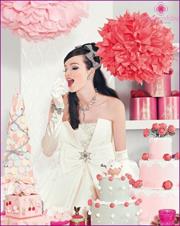 Barbie style wedding