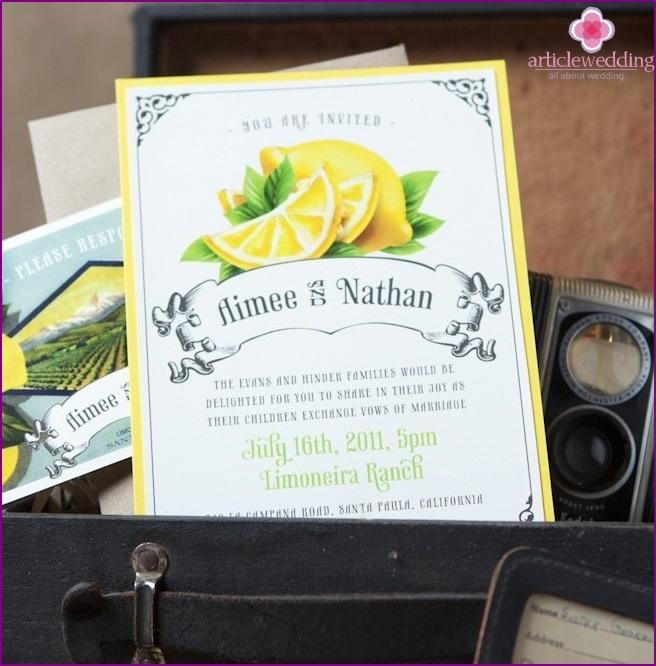 Lemon Style Invitation
