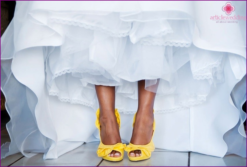Lemon style bride shoes
