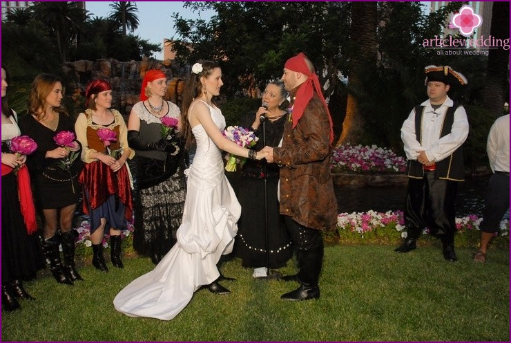 Pirate Style Wedding