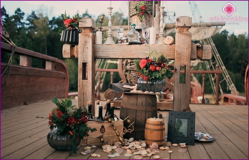 Pirate style decor
