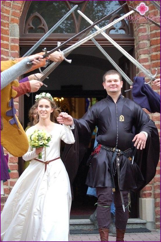 Jungvermählten im ritterlichen Stil