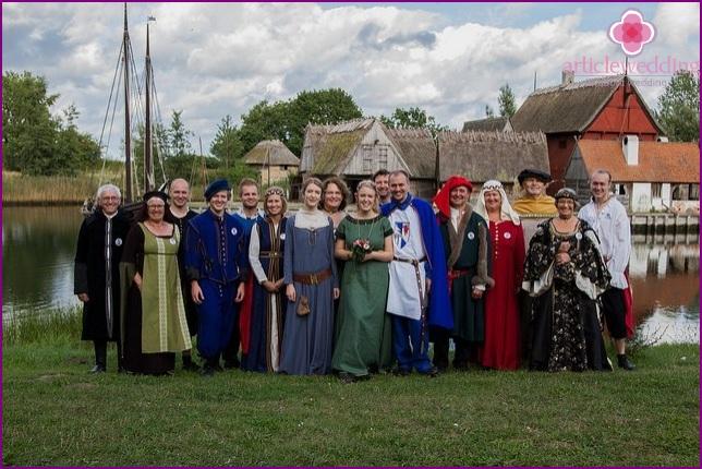 Gäste im Ritterstil