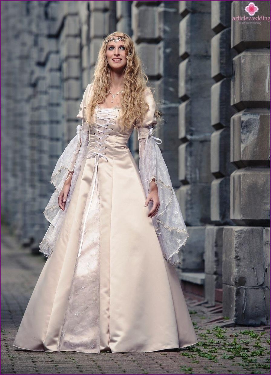 Braut im Ritterstil