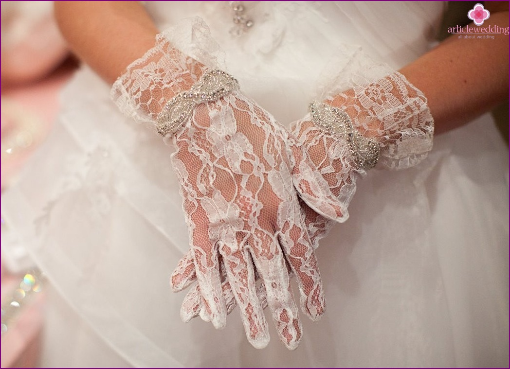 Lace in the image of a bride
