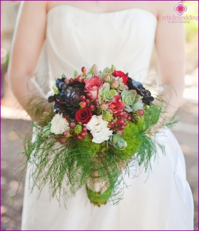 """Bridal bouquet in the style of """"Snow White and the Seven Dwarfs"""""""