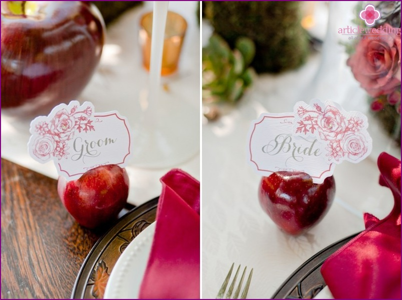 Banquet cards in the style of