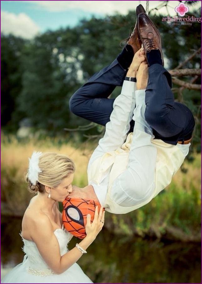 Spider-Man style wedding