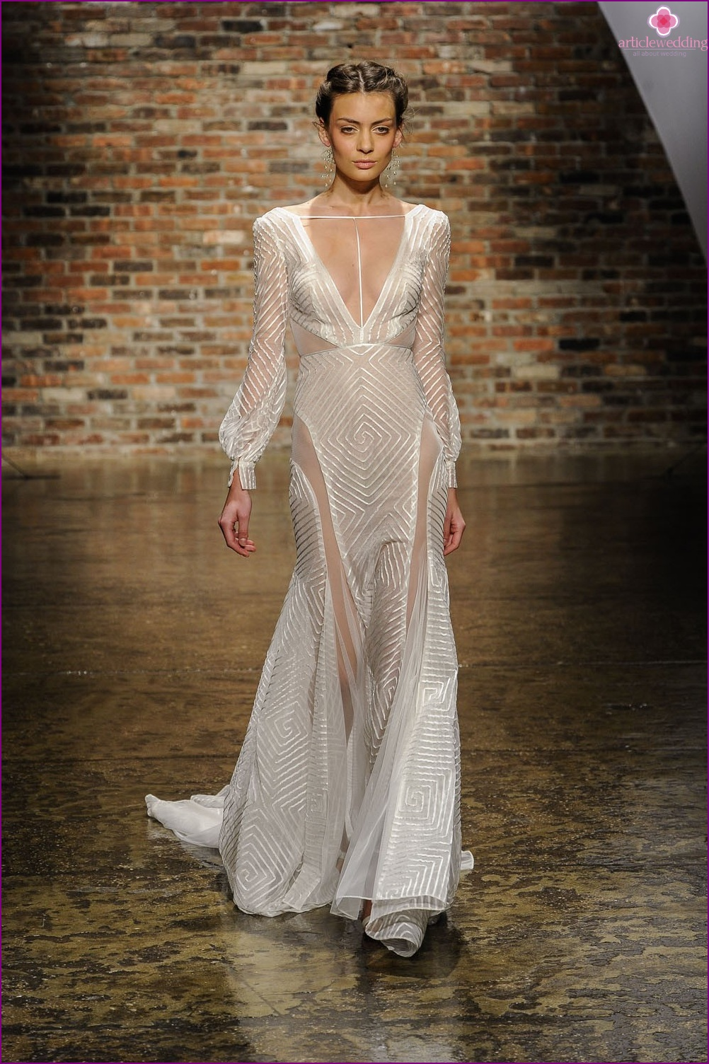 Geometric Wedding Dress