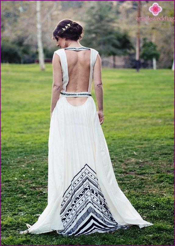 Geometric Bridesmaid Dress