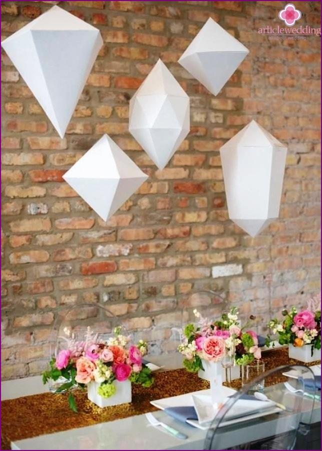 Geometry in a wedding decor