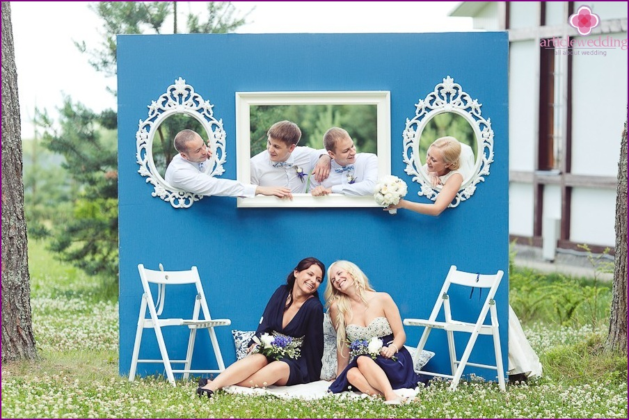 Wedding photo zone