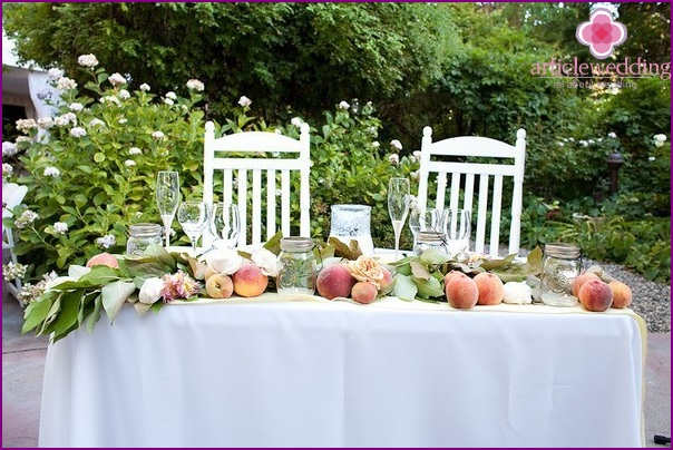 Hochzeit im Pfirsichstil