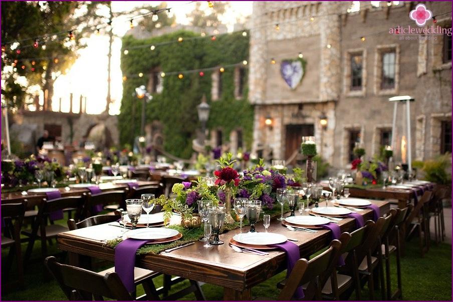 Renaissance style wedding decor