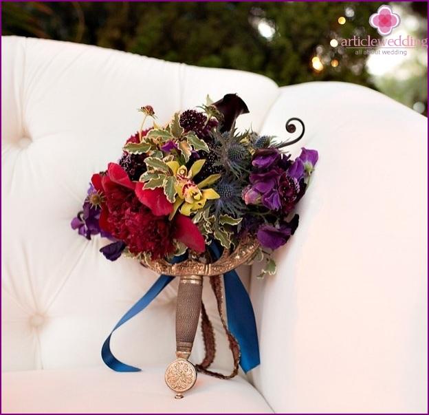 Bridal bouquet in the Renaissance style
