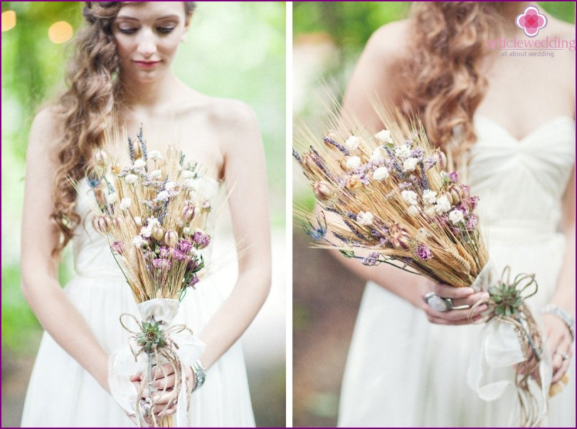 Rustic bride's bouquet