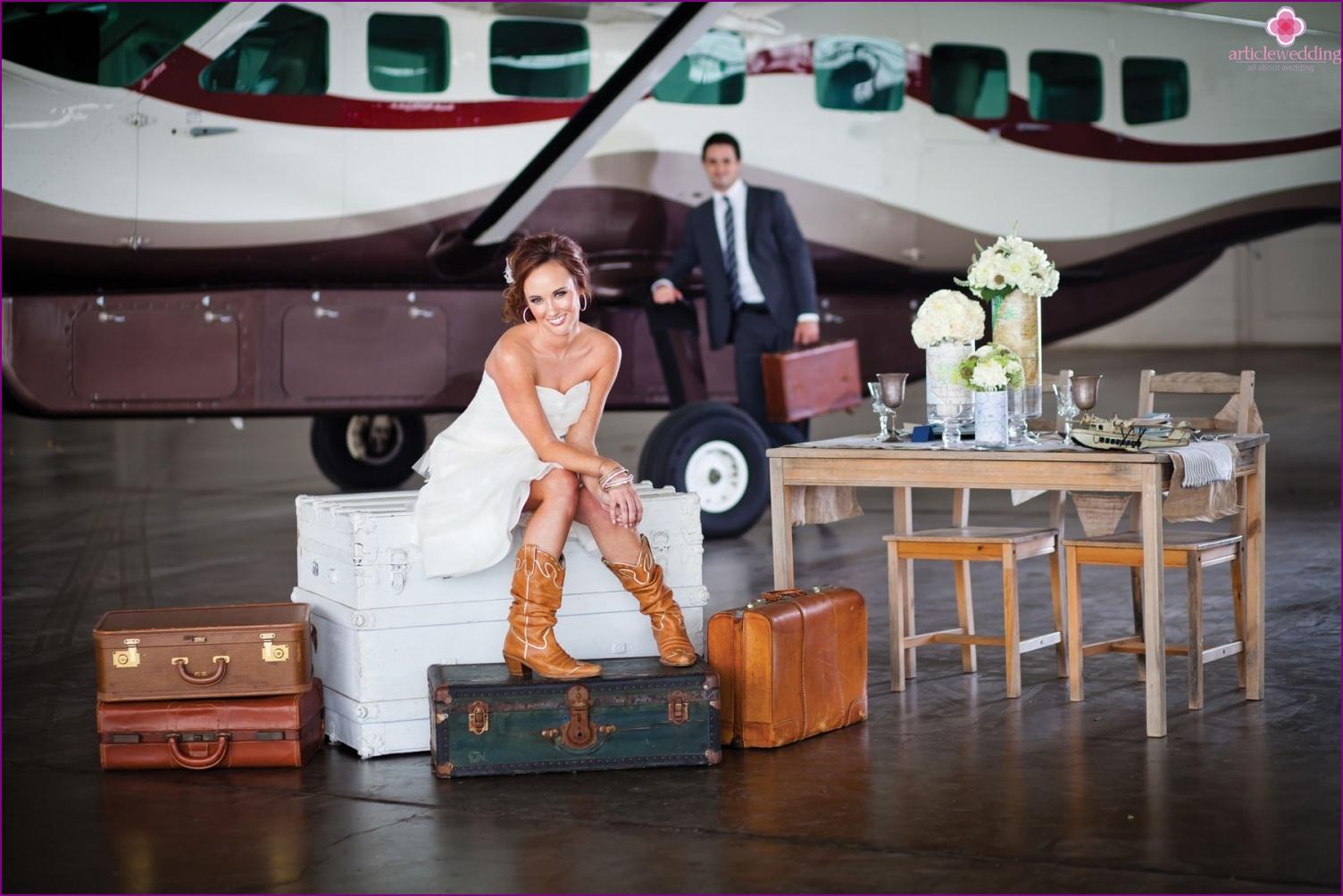 Happy Flight Wedding Scenario
