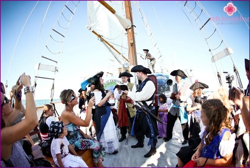 Piratenhochzeitsszenario