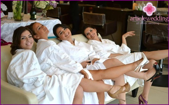 Hen party at the spa