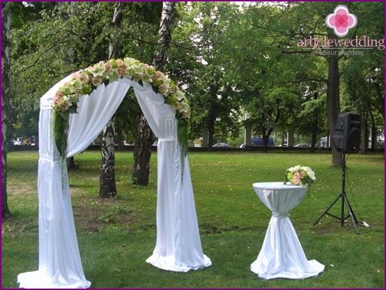 Decoration arch fabric
