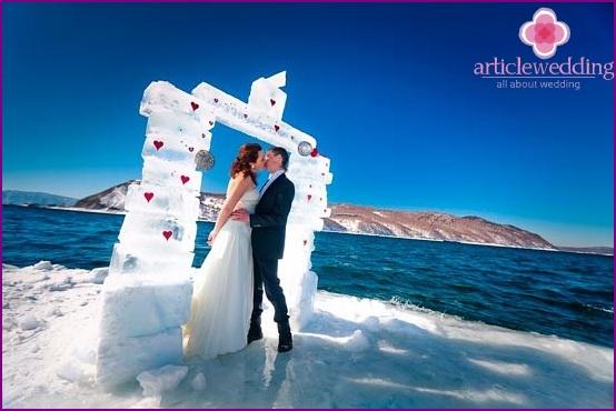 Ice wedding arch