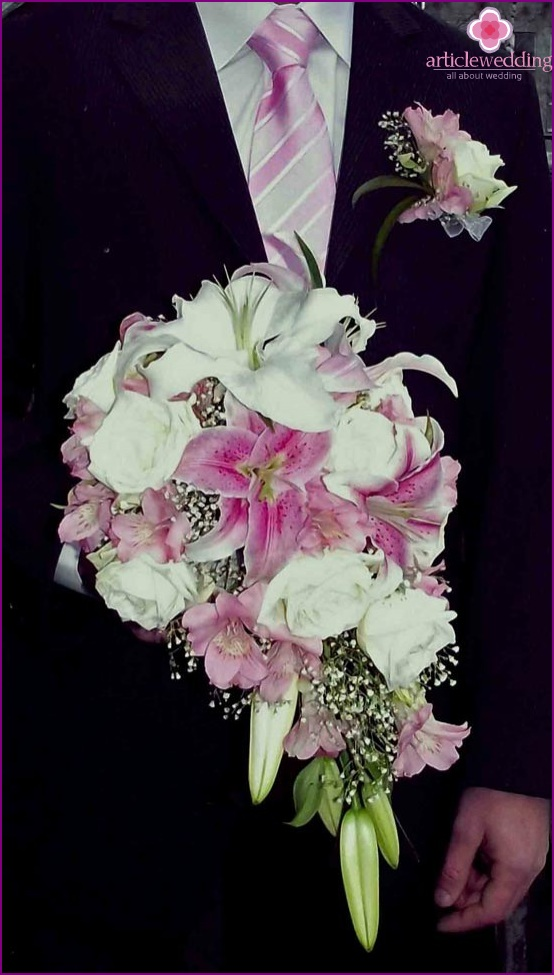 Harmony of a wedding boutonniere