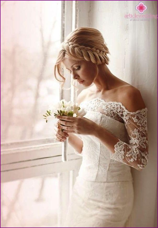 Exquisite bride hairstyle