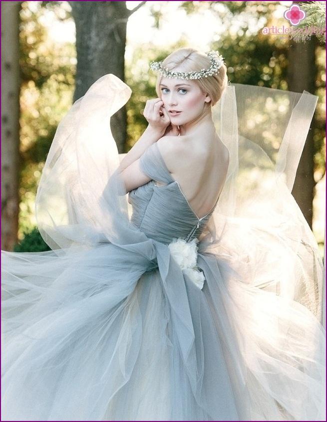 Dusty Blue Wedding Dress