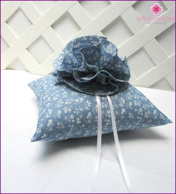 Wedding accessories in dusty blue