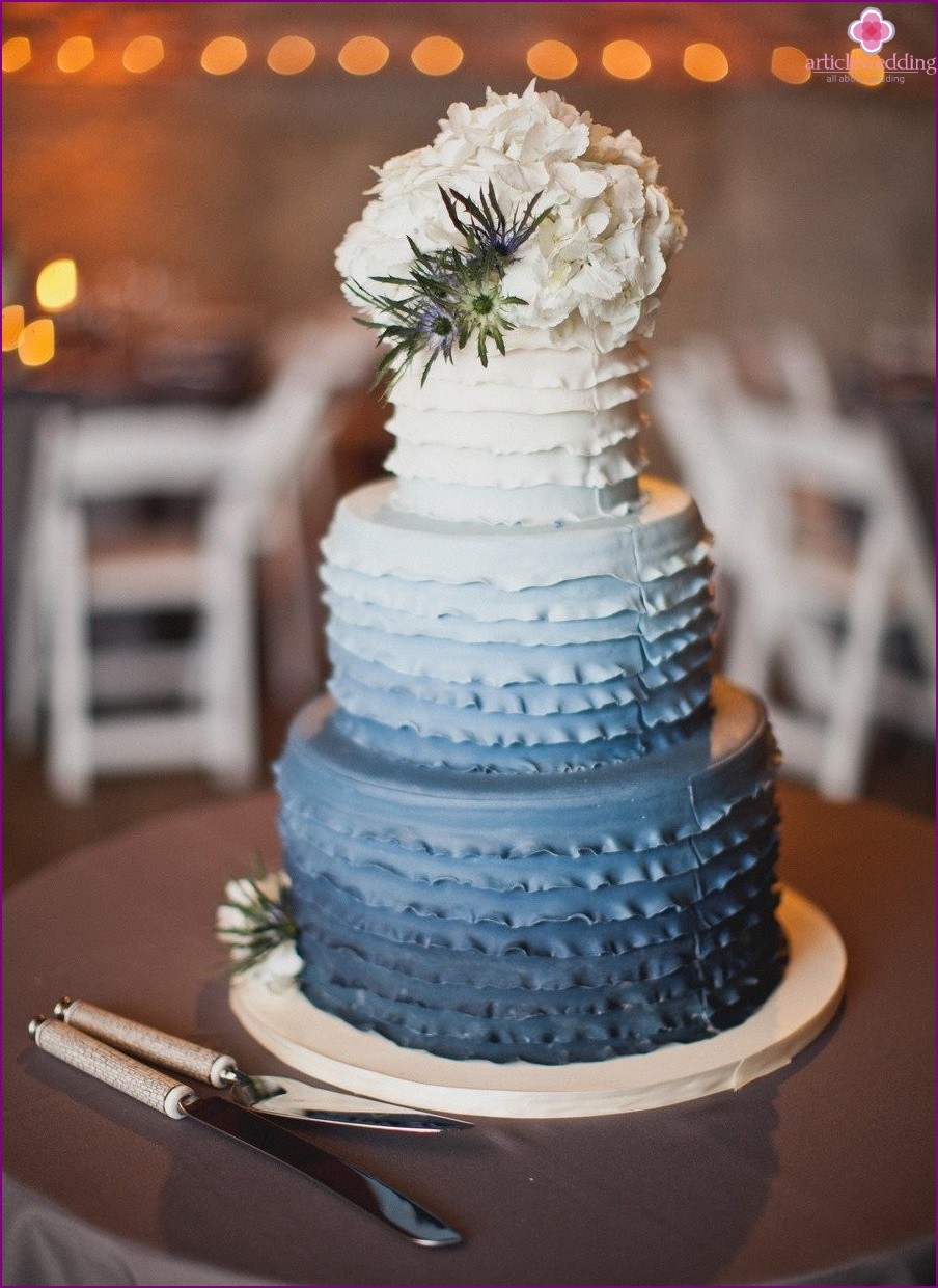Dusty Blue Cake