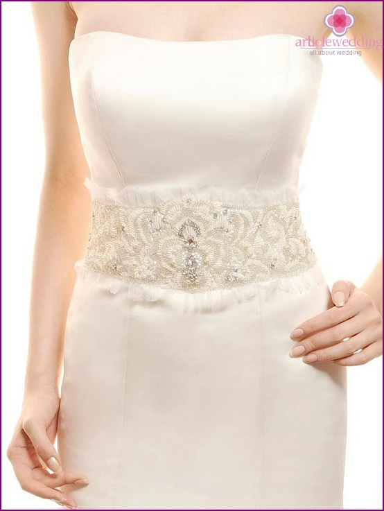 Bride's belt