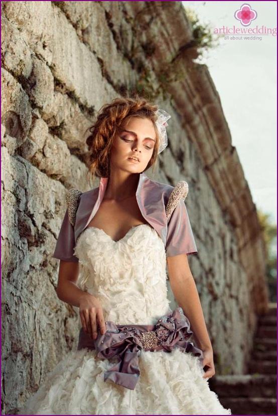 Bride in bolero