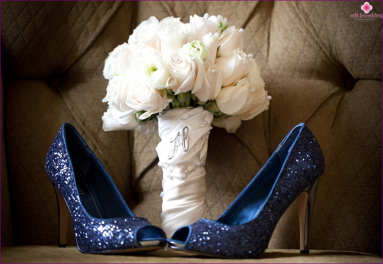 Wedding shoes in blue