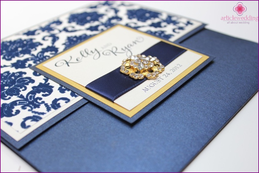 Blue Gold Invitation