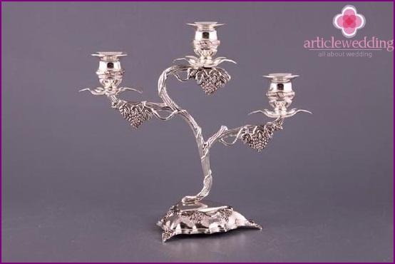 Steel candlestick