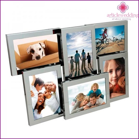 Steel photo frame