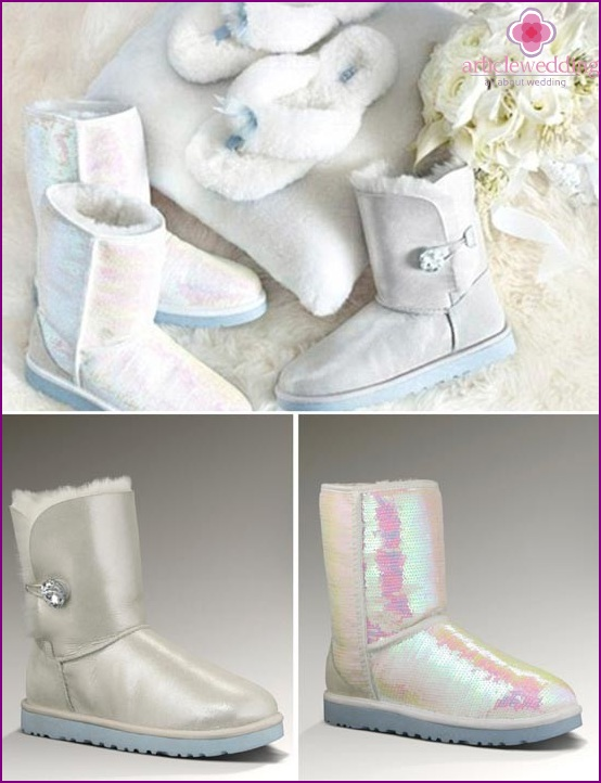 Ugg boots in the status of winter wedding shoes