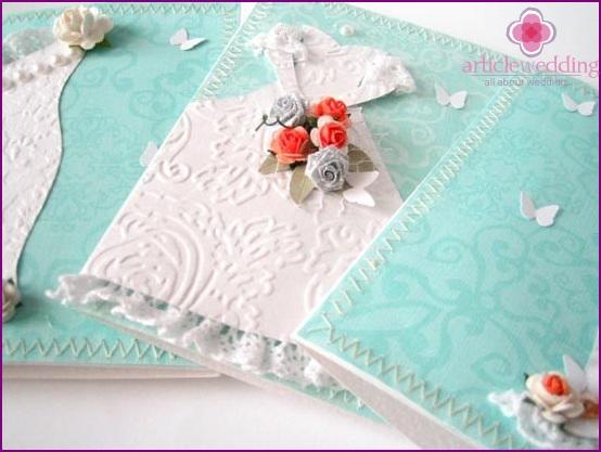 Mint Wedding Invitation Card