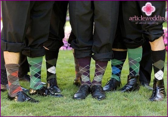 Groom's socks in rhombus