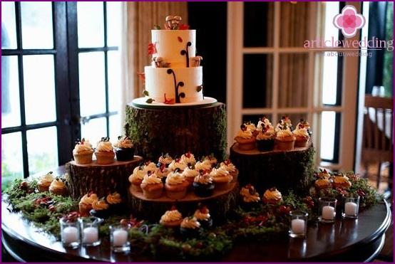 Wedding desserts in the autumn