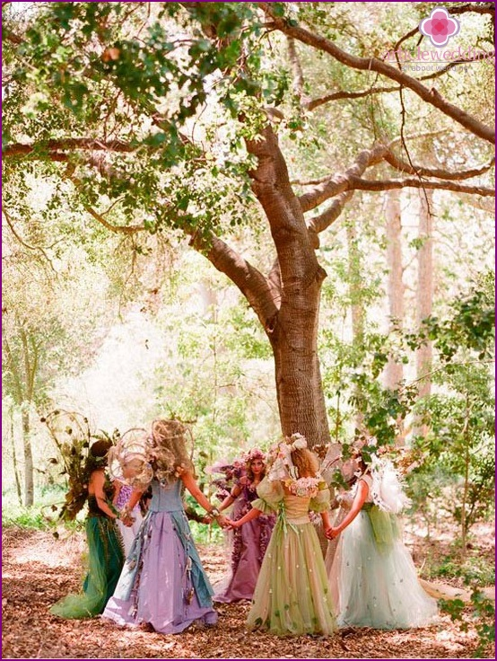 Fairytale wedding in nature