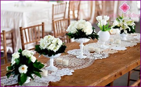 Lace table decoration