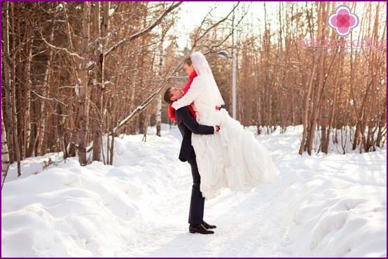 Amazing shots of a winter photo shoot