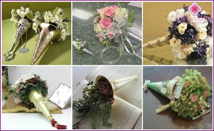 Blumenzubehör für die Braut Tussi Moussi