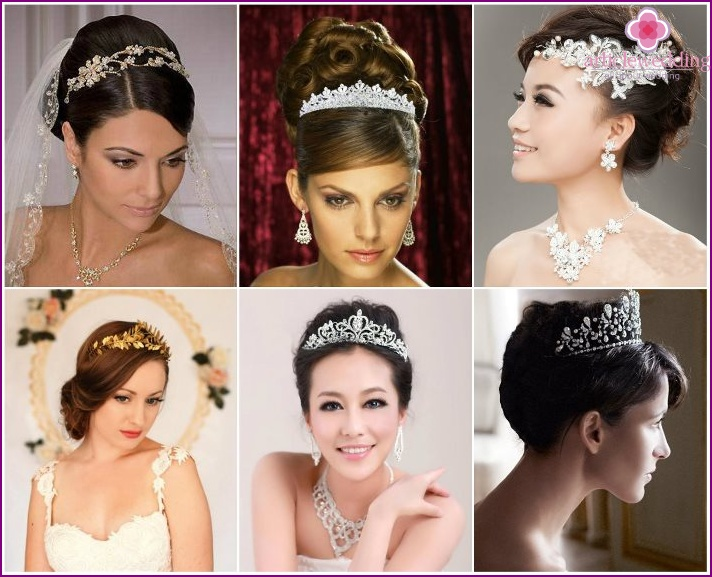 Tiara or diadem instead of veils